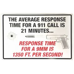 The Average Response For A 911 Call Tin Sign