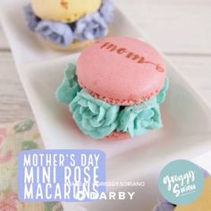 How to Make Mini Rose Macarons for Mother's Day #darbysmart #recipes #desserts #baking #sweets #macarons #frenchdesserts #mothersday #cakedecorating