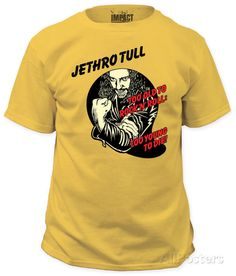 JETHRO TULL T Shirt OFFICIAL Too Old To Rock 'N' Roll Too Young To Die