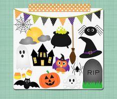 Halloween Clip Art Spooky Halloween Clipart  by SimplyBrenna, $3.00