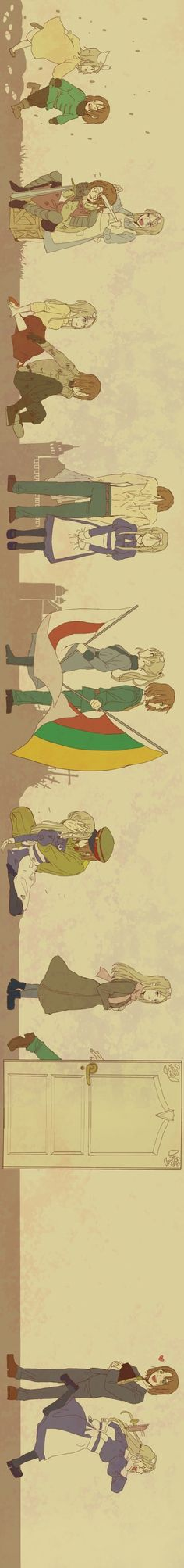 Hetalia Belarus and Lithuania (sheds a whole new light to this ship <3)