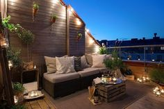 Make-Balkon Design-modern - garden/ backyard - Terrace Design, Attic Apartment, Outdoor Decor, Balcony Decor, Outdoor Lighting, Cozy Apartment Decor, Cozy Apartment, Outdoor Spaces, Outdoor Living