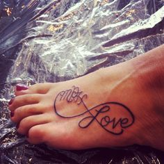 Infinity love tattoo with my kids initials (MPH)