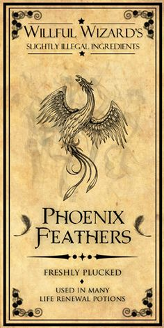 Phoenix Feathers... now to find a tall thin bottle & long red feathers.
