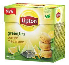 Lipton Lemon Macaroon   směs zeleného čaje, citrónu a vůně francouzských makronek