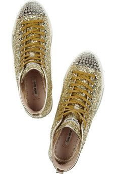 Miu Miu glitter high-tops. Dopest shoes I've ever seen.