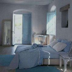 Idee per arredare in stile greco - Camera da letto in stile marittimo