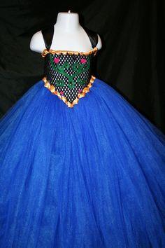 Princess Anna Inspired Tutu Dress Anna by LittleMissTrendyTutu, $52.00