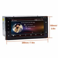 2 Din Android For Toyota 200*100 Car DVD Radio Stereo Video Player GPS For Toyota Hilux VIOS Camry Corolla Prado RAV4 Prado