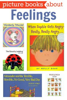 Great list of 12 books about feelings for kids. Reading is a great way to get kids to open up about what they are feeling, teach them how to empathize, and work on self control too.