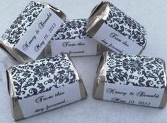 Amazon.com: 300 Damask Themed Wedding Candy wrappers/stickers/labels (Personalized Favors): Health & Personal Care