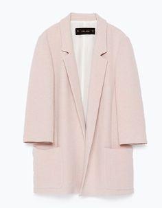 Blazer rose pâle Zara