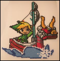 Legend of Zelda Wind Waker Link Perler Bead Sprite by KantoCrafts