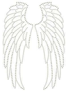 Motif strass maxi thermocollant - Ailes d´ange - Rascol, Diy Abschnitt, String Art Diy, Nail String, String Art Templates, String Art Patterns, Doily Patterns, Dress Patterns, Angel Wings Art, Beaded Embroidery, Embroidery Designs