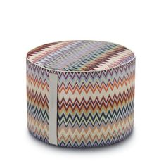 MASULEH #156 POUF 40X30 - MISSONI HOME at Spence & Lyda #ottomans #spenceandlyda #missonihome #australia #sydney #cotton