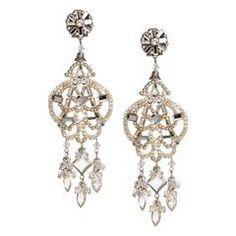 Glittering Crystal Pendant Earrings by DUBLOS