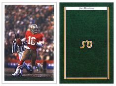 Joe Montana 1987 Question of Sport NNO UK Game Card