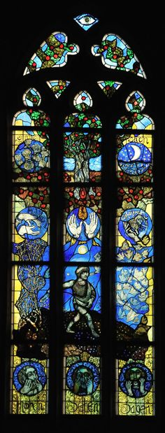 Stadtkirche St. Blasius - Stained Glass Window by Hans Gottfried von Stockhausen
