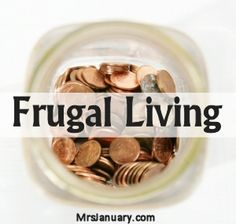 Check out this page FULL of dozens and dozens of frugal living tips and ideas! If you want to live a life free of debt and worry, frugal living is for you.