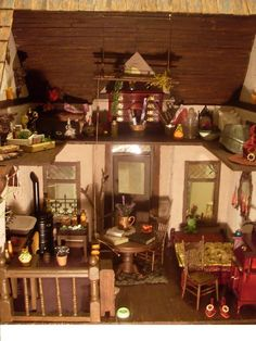 Witch house by Linda's Miniature Musings. Barbie house into hansel & gretel witch house.