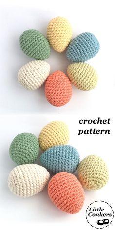 Egg crochet pattern by #LittleConkers