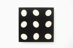 Schwarzes Quadrat mit Ovalformen -  1998 -  54 x 54 x 6 cm  - Filz auf Holz
