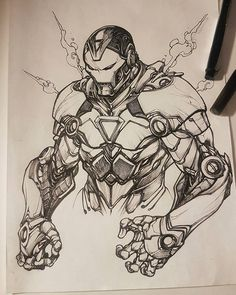 Drawing Man An Ironman doodle Character Drawing, Comic Character, Character Design, Marvel Comics Art, Marvel Heroes, Thor Marvel, Captain Marvel, Captain America, Poster Superman
