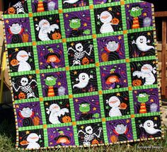 30% off! On sale for $44 regular price $64!  This listing is for a quilt kit featuring Happy Haunting for Northcott Fabrics. Quilt will measure approximately 41 x 54 A simple pattern is included with the kit to help you complete this project in a snap! The quilt top is a panel so you do not have to piece or sew the top together! Kit includes:  Halloween Panel 16 inches Color Stripe for Binding 60 inches for Backing  Purchase the finished the quilt here. https://www.etsy.com/lis...