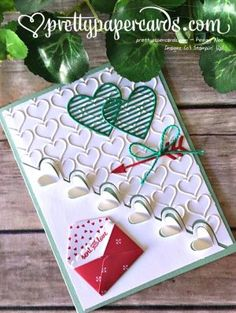 Sealed With Love stamps, Love Notes framelits- Stampin' Up! Valentine Greeting Cards, Greeting Cards Handmade, Love Valentines, Valentine Crafts, Stamping Up Cards, Kirigami, Paper Cards, Creative Cards, Anniversary Cards