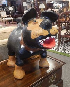 Papier Mache Dog Sculpture