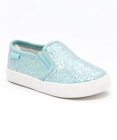 Take a look at this Light Green Glitter Tween Slip-On Shoe on zulily today!
