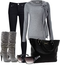 """Day after a snow with the sun"" by ohmeejean ❤ liked on Polyvore"