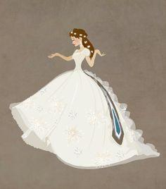 A girl in a beautiful white dress.