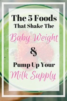 Keeping up your milk supply is so important, but you want to lose that stubborn baby weight. Here's the five foods I eat to do both!