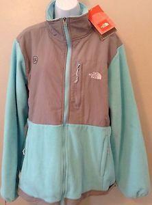 The North Face XXL 2XL Fleece Zip Jacket Aqua Blue Gray Women's New   eBay