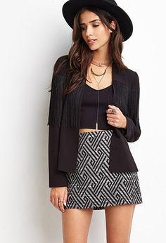 Abstract Geo Print mini skirt