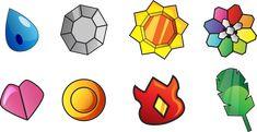 Badges des champions d'arène de la région de Kanto