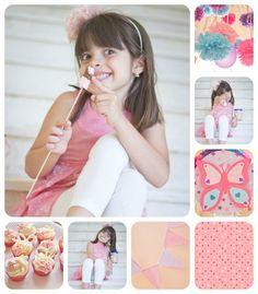 fiesta, pink, mariposa, cupcakes, fiesta-rosa
