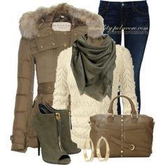 """Olive & Cocoa"" by casuality on Polyvore"