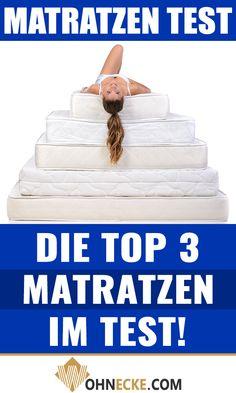 Entscheidend für einen ruhigen und erholsamen Schlaf ist die richtige #Matratze! Mit Klick auf das Bild findest Du daher unsere TOP 3 Matratzen im Test! #Schlafzimmer #Matratzen #Bett #Schlafen Personal Care, Sleep Better, Falling Asleep, Mattresses, Bed, Bedroom, Nice Asses