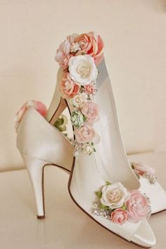 Items similar to Whimsical Woodland Blush Flower Bridal Shoes, Shoe Embellishing Service, Rhinestone Wedding Shoes, Bridal Shoes, Floral Shoes on Etsy - Schuhe Pretty Shoes, Beautiful Shoes, Cute Shoes, Me Too Shoes, Awesome Shoes, Rhinestone Wedding Shoes, Bridal Shoes, Diy Wedding Shoes, Wedding Heels