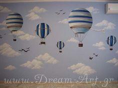 Ζωγραφική παιδικού δωματίου με Αερόστατα