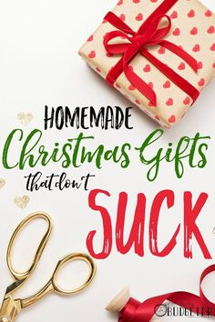 Cheap DIY Christmas Gifts That Don't Suck. This list of super easy DIY Christmas gifts was a life saver this year! We had a tight Christmas budget and this helped. The bags are my FAVORITE! I must have made 50 last weekend! Such an awesome idea for meaningful Christmas