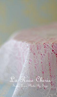 デコレーション教室 La Rose Cherie(ラ・ローズ・シェリー) -チュール薔薇レース の シュガー