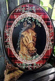Tartan Horse Plaque By Robin King Designs.