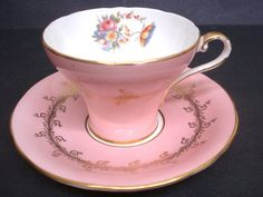 Beautiful Vintage  Cup and Saucer    Aynsley    England     Bone China     Teacup Set on Etsy, $32.44 CAD