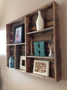 Free Shipping Reclaimed wood wall shelf large by DelHutsonDesigns