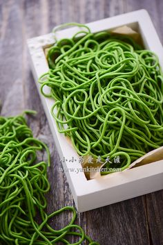 Spinach Noodles, Vegetable Noodles, Pasta Noodles, Spinach Juice, Frozen Spinach, Make Your Own Pasta, Basil Pasta, Indonesian Food, Dumpling