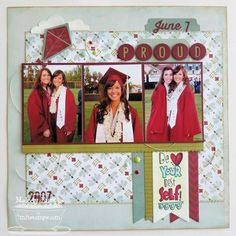 graduation  Scrapbook Layouts | Proud...Graduation Layout | Scrapbooking Ideas
