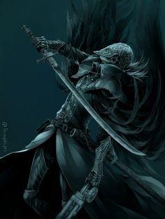 Cainhurst Hunter vampire... That fight is my favorite of bloodborne!!